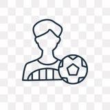 Gracz futbolu wektorowa ikona odizolowywająca na przejrzystym tle, ilustracji