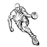 Gracz koszykówki ilustracja wektor