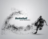 Gracz koszykówki od cząsteczek Zdjęcie Stock