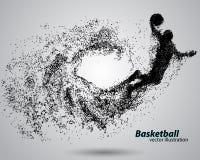 Gracz koszykówki od cząsteczek Obrazy Royalty Free