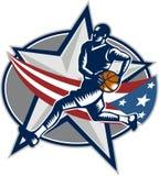 Gracz Koszykówki Szybkiej przerwy Lay Woodcut Obraz Royalty Free
