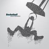 Gracz koszykówki trójboki obrazy stock
