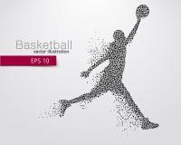 Gracz koszykówki trójboki obrazy royalty free
