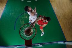 Gracz koszykówki w akci Obraz Royalty Free