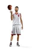 Gracz koszykówki w akci zdjęcie stock