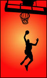 gracz koszykówki Obrazy Royalty Free