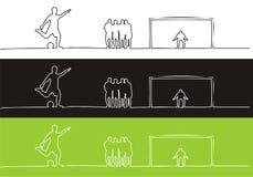 gracz piłka nożna royalty ilustracja