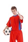 gracz piłka nożna fotografia royalty free