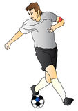 gracz piłka nożna ilustracja wektor