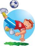 Gracz Piłki Nożnej ilustracja wektor