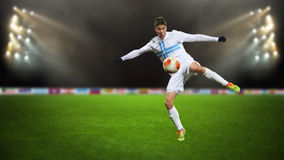 Gracz piłki nożnej Zdjęcie Stock