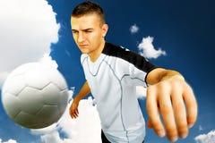 Gracz piłki nożnej Obrazy Royalty Free