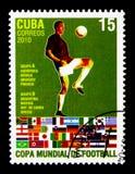 Gracz piłki nożnej, grupy A & b, Futbolowy puchar świata - Południowa Afryka seria około 2010, Fotografia Stock