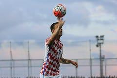 Gracz piłki nożnej ręka Zdjęcie Stock