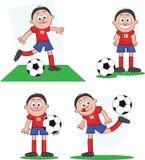 Gracz Piłki Nożnej Ustawia 1 Fotografia Stock