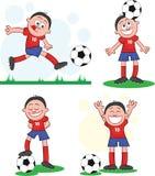 Gracz Piłki Nożnej Ustawia 2 Zdjęcia Stock