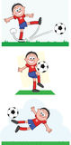 Gracz Piłki Nożnej Ustawia 3 Zdjęcia Royalty Free