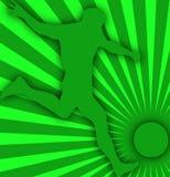 Gracz piłki nożnej zielony tło Obraz Royalty Free