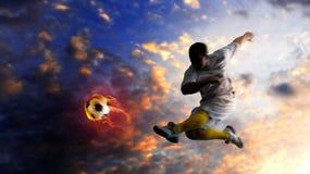 gracz piłka nożna Obraz Stock