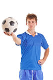 gracz piłka nożna Obrazy Royalty Free