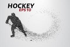 Gracz w hokeja cząsteczki Zdjęcie Stock