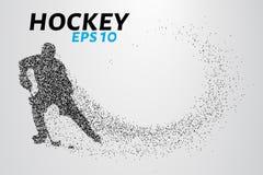 Gracz w hokeja cząsteczki Fotografia Royalty Free