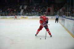 Gracz w hokeja hokeja klub Obraz Royalty Free