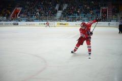 Gracz w hokeja hokeja klub Obrazy Stock