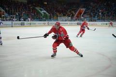 Gracz w hokeja hokeja klub Fotografia Stock