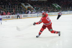 Gracz w hokeja hokeja klub Zdjęcie Stock