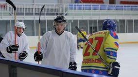Gracz w hokeja wracają ławka zbiory wideo