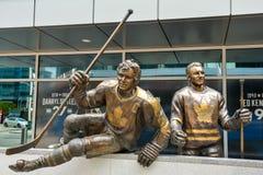 Gracz w hokeja zabytek w Toronto obraz stock