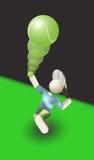gracz w piłkę postury porcja bawi się tenisa Zdjęcia Stock