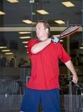 gracz w piłkę racquet Fotografia Royalty Free