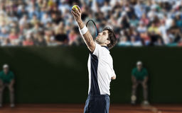 Gracz w tenisa Obraz Royalty Free