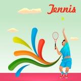 Gracz w tenisa dostarcza smołę zdjęcie royalty free
