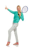 Gracz w tenisa odizolowywający Zdjęcie Royalty Free