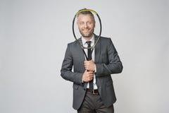 Gracz w tenisa w biznesie obrazy royalty free