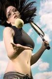 gracza żeński tenis Obrazy Royalty Free