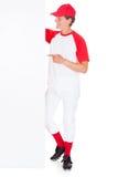 Gracza Baseballa mienia pustego miejsca plakat Obrazy Royalty Free