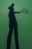 gracza cienia tenis Fotografia Royalty Free