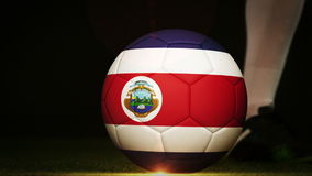 Gracza futbolu kopania costa rica flaga piłka royalty ilustracja