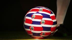 Gracza futbolu kopania costa rica flaga piłka ilustracji