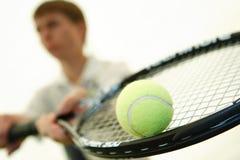 gracza kanta tenisa potomstwa zdjęcie stock