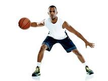 Gracza koszykówki mężczyzna Odizolowywający Obraz Stock