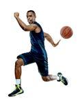 Gracza koszykówki mężczyzna Odizolowywający Obraz Royalty Free