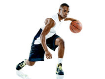 Gracza koszykówki mężczyzna Odizolowywający fotografia stock