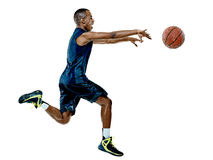 Gracza koszykówki mężczyzna Odizolowywający Zdjęcie Royalty Free