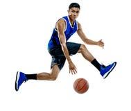 Gracza koszykówki mężczyzna Odizolowywający Fotografia Royalty Free