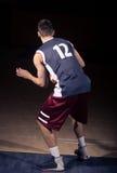 Gracza koszykówki plecy, tylni widok Obraz Stock